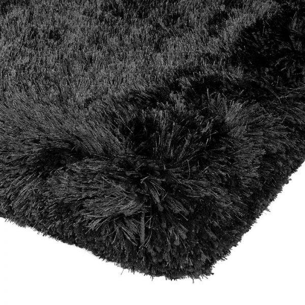 Shaggy Rugs   Deep Pile Rugs   Rug & Table Shop Halifax West Yorkshire   01422 414459   Plush Black Rug