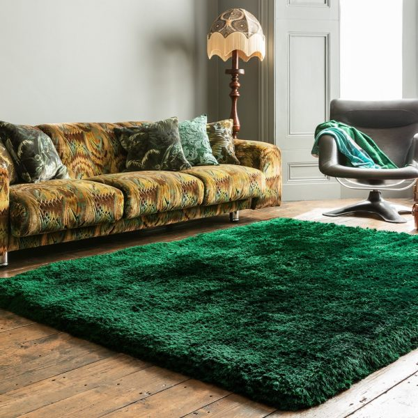 Shaggy Rugs   Asiatic Deep Pile Rugs   Plush Emerald Rug