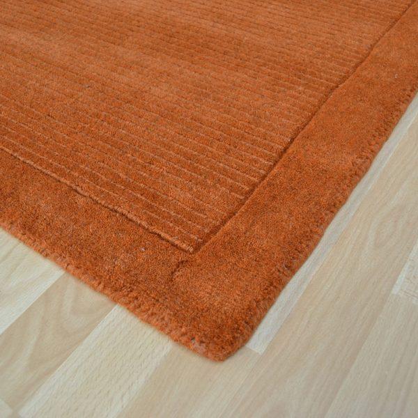 Terracotta wool rug