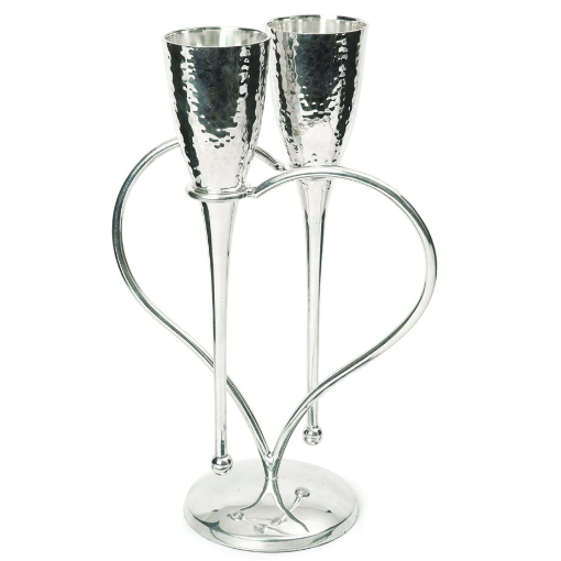 Entwined Heart Lovers' Flutes