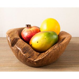 Teak root 30cm fruit bowl