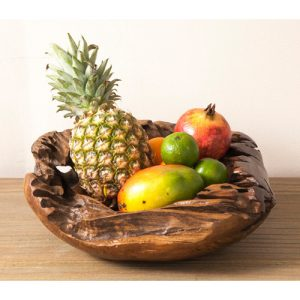 Teak Root 40cm fruit bowl
