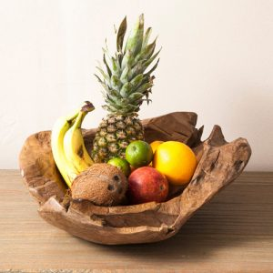 Teak root 50cm fruit bowl